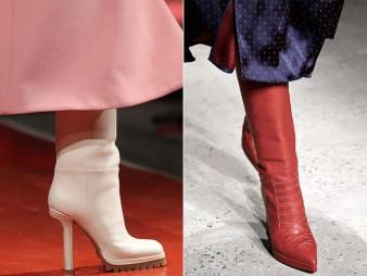 сапожки на высоких каблуках
