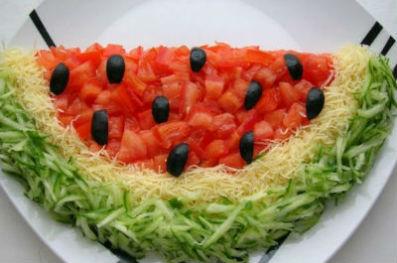 салат арбузная долька